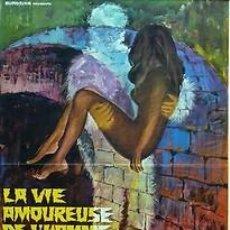 Cine: CARTEL LA VIE AMOUREUSE DE L'HOMME INVISIBLE. C. 1960. Lote 33240961