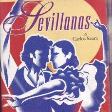 Cine: VHS - SEVILLANAS DE CARLOS SAURA. Lote 33366297