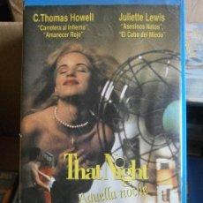 Cine: AQUELLA NOCHE-VHS-COMPRA MINIMA 6 EU--. Lote 33484921
