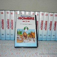 Cine: LOTE 15 VIDEOS VHS - *ERASE UNA VEZ EL HOMBRE* - PLANETA DE AGOSTINI. Lote 41197440