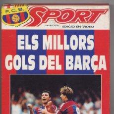Cine: CINTA VIDEO VHS *ELS MILLORS GOLS DEL BARÇA* - LLIGA 92-93. Lote 34902969