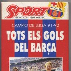 Cine: VIDEO VHS *TOTS ELS GOLS DEL BARÇA* - CAMPIÓ DE LLIGA 91-92. Lote 34903029