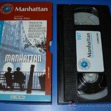Cine: VHS - MANHATTAN - WOODY ALLEN-DIANE KEATON- EL MUNDO Nº107 LAS 100 PELICULAS DE NUESTRA VIDA. Lote 35167958