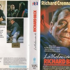 Cine: VHS\. LA VIOLACIÓN DE RICHARD BECK. TÍTULO ORIG. THE RAPE OF RICHARD BECK. AÑO 1985. RICHARD CRENNA. Lote 35333913