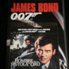 Cine: EL HOMBRE DE LA PISTOLA DE ORO 007 - PELICULA VHS JAMES BOND - ROGER MOORE - PLANETA DE AGOSTINI. Lote 35424175