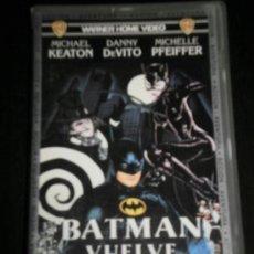 Cine: BATMAN VUELVE - PELICULA VHS - MICHAEL KEATON/DANNY DEVITO/MICHELLE PFEIFFER / WB WARNER HOME VIDEO. Lote 35424415