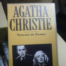Cine: AGATHA CHRISTIE-TESTIGO DE CARGO.VHS. Lote 35452867
