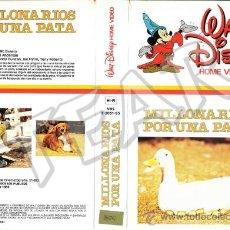 Cine: MILLONARIOS POR UNA PATA - DEAN JONES / SANDY DUNCAN - WALT DISNEY - DESCATALOGADA. Lote 64518087