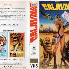Cine: VHS\. GALAXINA • SUPER-DESCATALOGADA SEXPLOITATION BIZARRA. DIR. WILLIAM SACHS • VHS + DVD GRATIS.. Lote 53508179