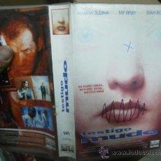 Cine: TESTIGO MUDO--VHS--COMPRA MINIMA 6 EU--. Lote 35598990