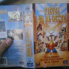 Cine: FIEVEL VA AL OESTE-VHS-COMPRA MINIMA 6 EU--. Lote 35683441