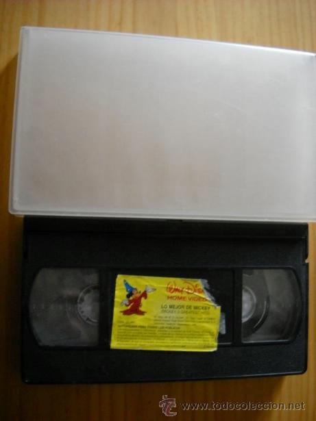 VHS - WALT DISNEY - LO MEJOR DE MICKEY (Cine - Películas - VHS)