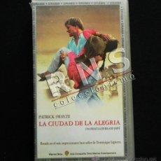 Cine: LA CIUDAD DE LA ALEGRÍA - PELÍCULA DRAMA - PATRICK SWAYZE - INDIA DOMINIQUE LAPIERRE - CINE VHS. Lote 35867271