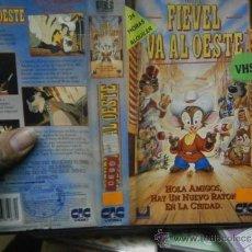 Cine: FIEVEL VA AL OESTE-VHS-COMPRA MINIMA 6 EU--. Lote 35947353