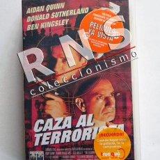 Cine: CAZA AL TERRORISTA - PELÍCULA ACCIÓN BEN KINGSLEY - DONALD SUTHERLAND - AIDAN QUINN CHACAL VHS CINE. Lote 35963931