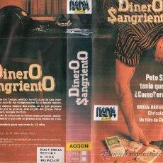 Cine: VHS\. DINERO SANGRIENTO. Lote 36114782