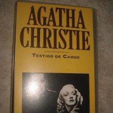 Cine: PELÍCULA EN VHS - TESTIGO DE CARGO - AGATHA CHRISTIE. Lote 36156994