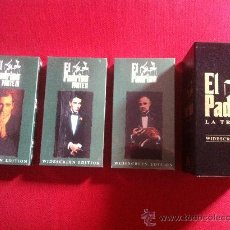 Cine: VHS-TRILOGIA EL PADRINO-WIDESCREEN EDITION. Lote 36375895