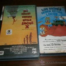 Cine: VHS LOS DIOSES DEBEN ESTAR LOCOS 1 Y 2. Lote 113124318
