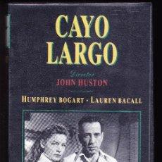 Cine: CINE-VHS-- CAYO LARGO--HUMPHREY BOGART- LAUREN BACALL-WARNER. Lote 36875738