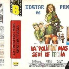 Cine: VHS. LA POLITIA MAS SEXI DE ITALIA ~ EDWIGE FENECH ALVARO VITALI ~ SUPER BIG BOX! • VHS + DVD GRATIS. Lote 36897791