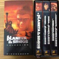 Cine: COLECCIÓN 5 FILMS VHS EL PLANETA DE LOS SIMIOS+NOVELA ORIGINAL QUE EMPEZÓ EL MITO DE PIERRE BOULLE. Lote 36972264