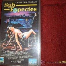 Cine: SUB ESPECIES.DIRECTOR TED NICOLAOU.COLECCIÓN FULL MOON. VHS ORIGINAL.1994.EXTRAORDINARIA.. Lote 37146806