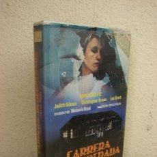 Cine: VHS. CARRERA DESESPERADA. ANNIE WHITTLE, JUDITH GIBSON. IMPOSIBLE DE ENCONTRAR. Lote 37412562