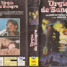 Cine: VHS\. ORGIA DE SANGRE (BARON BLOOOD) MARIO BAVA • CULTAZO CINE DE TERROR ITALIANO • VHS + DVD GRATIS. Lote 37578766