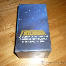 Cine: PELICULA VHS LA TRILOGIA GUERRA LAS GALAXIAS IMPERIO CONTRAATACA RETORNO JEDI EDI. LUJO !!!. Lote 37970578