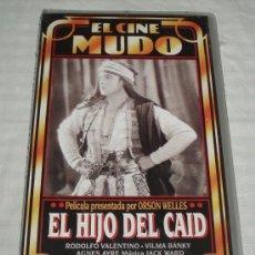 Cine: VHS EL HIJO DE CAID (EL CINE MUDO) PRESENTADA POR ORSON WELLES PRECINTADA. Lote 38055080