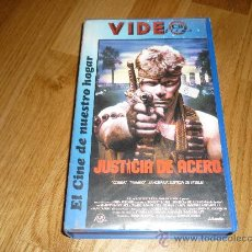 Cine: PELICULA VHS JUSTICIA DE ACERO 1987 VIDEO FILMS. Lote 38089934