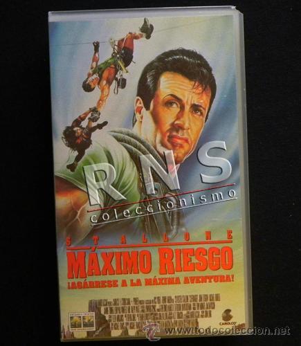 MÁXIMO RIESGO - SYLVESTER STALLONE - PELÍCULA ACCIÓN MONTAÑA - ¿ ESCALADA DEPORTE ? - CINE VHS (Cine - Películas - VHS)