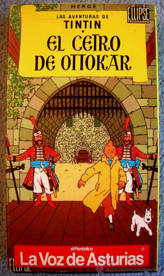Cine: LAS AVENTURAS DE TINTIN - EL CETRO DE OTTOKAR - VHS NUEVO. - Foto 2 - 38377405