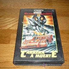 Cine: PELICULA CARRERA A MUERTE VHS ORIGINAL RAREZON AUTOMOBILI1986 INTERVIDEO 110`SMO RADICAL. Lote 38409811