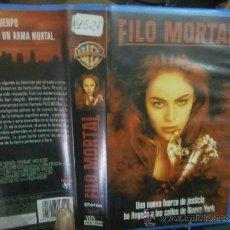 Cine: FILO MORTAL-VHS. Lote 38641148