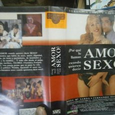 Cine: AMOR SEXO -VHS. Lote 38704809