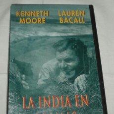 Cine: VHS LA INDIA EN LLAMAS KENNETH MOORE Y LAUREN BACALL. Lote 38774568