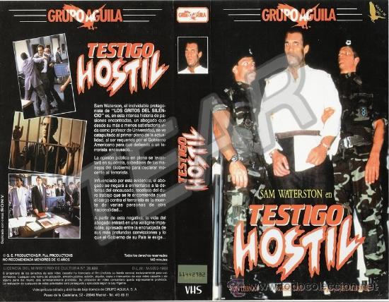 Cine: VHS - TESTIGO HOSTIL ( 1988 ) - NUNCA EN DVD - EDICION GRUPO