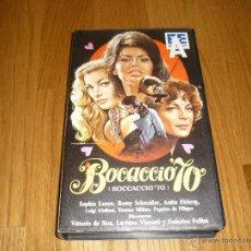 Cine: PELICULA VHS BOCACCIO 70 SOFIA LOREN VISCONTI DE SICA ROMY SCHNEIDER FELLINI SEXO EROTICO. Lote 39615981