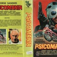 Cine: PSICOMANIA VHS - MOTORISTAS SUICIDAS, ESPIRITISMO, SATANISMO Y MUERTOS VIVIENTES ¡¡REBAJADA UN 50%!!. Lote 39743014
