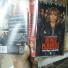 Cine: MENTES PELIGROSAS -VHS. Lote 39835818