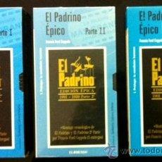 Cine: EL PADRINO - 3 VÍDEOS VHS. Lote 39871624