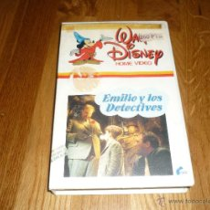 Cine: PELICULA EMILIO Y LOS DETECTIVES WALT DISNEY HOME VIDEO VHS PETER TEWKSBURY CINE FAMILIAR. Lote 39934026