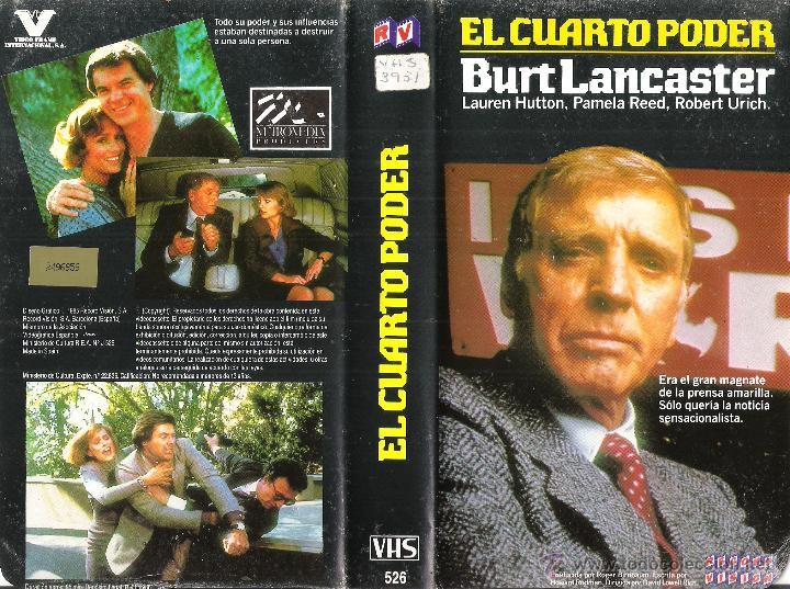 vhs el cuarto poder - burt lancaster (7) - Comprar Películas de cine ...