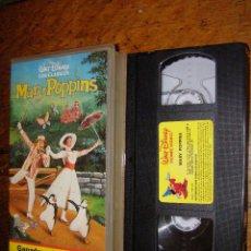 Cine: (VHS) MARY POPPINS - JULIE ANDREWS, DICK VAN DYKE (WALT DISNEY ). Lote 40254760