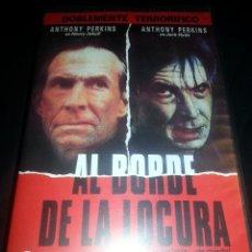 Cine: AL BORDE DE LA LOCURA - VHS - ANTHONY PERKINS - TERROR INTRIGA. Lote 40254949