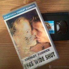 Cine: CINTA VHS ORIGINAL EYES WIDE SHUT STANLEY KUBRICK PELÍCULA DE CULTO AÑO 1999. Lote 40514616