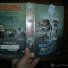 Cine: DICIEMBRE SANGRIENTO -VHS. Lote 40528933