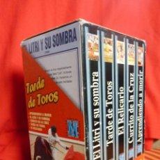Cine: TAUROMAQUIA, PRECIOSA COLECCIÓN DE CINCO VÍDEOS PELICULAS VHS TARDE DE TOROS. Lote 40701462